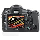atFoliX Folie für Pentax K20D Displayschutzfolie - 3er Set FX-Antireflex-HD hochauflösende entspiegelnde Schutzfolie