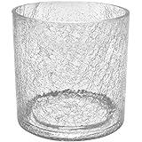 Portavaso in vetro cilindrico serie ORCHID di Polnix, altezza 15 cm, colore: trasparente