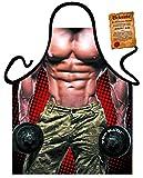 Herren Grill-Schürze Bad Boy Fitness Body Fun Koch-Schürze Küchen-Schürze geil bedruckt Geschenk-Set mit Grillmeister-Urkunde