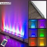 LED Wandleuchte KOLARI mit Schnurschalter und Fernbedienung - Zimmerlampe mit Farbwechsel - Wandstrahler für Wohnzimmer - Schlafzimmer - Flur - ca. 250 verschiedene Farben einstellbar