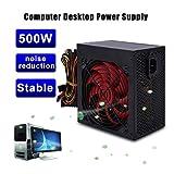 Binghotfire PC-Netzteil Computer Strom Lüfter leise (Voll-Modulares Kabelmanagement, 80 Plus Gold, 850/600 / 500/450 Watt, EU) Wahlbar (500W)