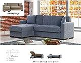 CAPALDO Sofás sofá prontoletto 'Merlin' Corner con Chaise Longue Gris