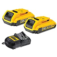 Dewalt DCB183 XR 18v Lithium Ion Battery Twin Pack DCB105 Charger