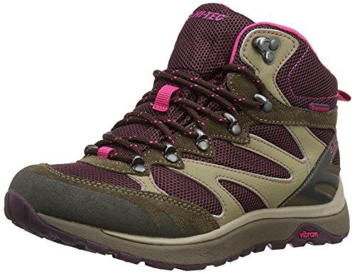 Hi-tec V-lite Sphike Mid Waterproof, Chaussures de Randonnée Hautes Femme Beige (Beetroot/Dune/Apollo/Pink 100)