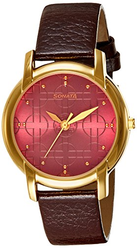 518tB%2BHVUTL - Sonata 7954YL09J Brown Mens watch