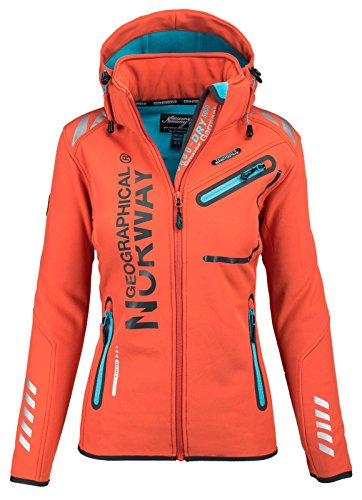Geographical Norway - Manteau imperméable - Manches Longues - Femme - orange - M