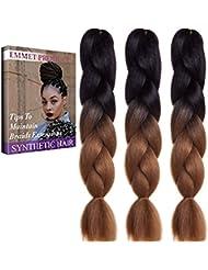 Jumbo Braids-Premium Quality 100% Kanekalon Braiding Hair Extension Full Bundles 100g / pc Synthetic Hair Ombre 24 Inch 3Pcs / lot Résistant à la chaleur, Longue durée à l'aide de 37 couleurs 2Tone & 3Tone, Garantie 1 semaine de changement ou de remboursement (Couleur 11)