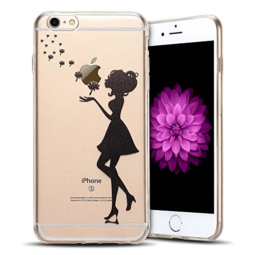 Cover iPhone 6s plus Custodia iPhone 6 plus Silicone Anfire Morbido Flessibile TPU Gel Case Cover per Apple iPhone 6 plus/6s plus (5.5 Pollici) Ultra Sottile Clear Trasparente Copertura Antiurto Prote Ragazza
