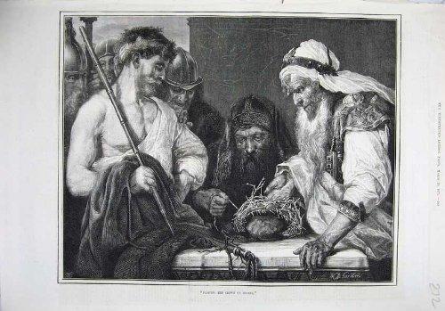 Druck-Flechtende Kronen-Dornen-Mann-Kostüme 1875 der Schönen (1875 Kostüme)