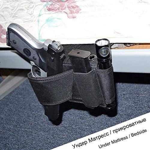 Hihey Universal Pistolenhalfter Universelles verstellbares Car Conceal Couch am Bett mit 3 Anti Rutsch Streifen -