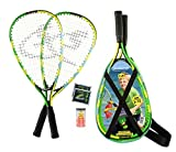 Speedminton Junior Set – Original Speed Badminton/Crossminton Kinder Set inkl. 2 Fun Speeder®, Tasche