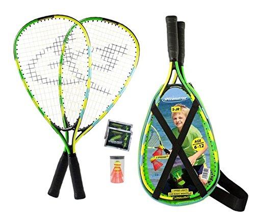 Speedminton® Junior Set - Original Speed Badminton/Crossminton Kinder Set inkl. 2 FUN Speeder®, Tasche