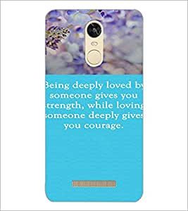 PrintDhaba Quote D-3719 Back Case Cover for XIAOMI REDMI NOTE 3 (Multi-Coloured)
