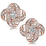 925 Sterling Silber Ohrstecker Ohrringe mit Brillant Zirkonia 5A für Damen IOSUA