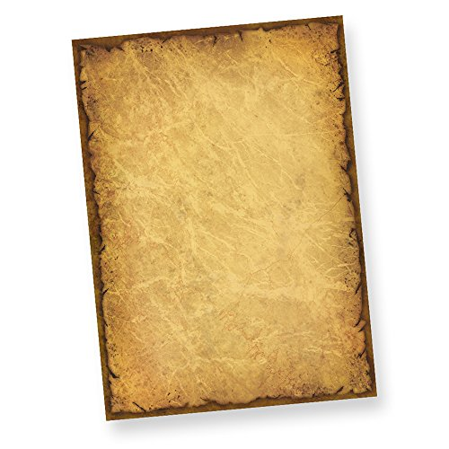 TATMOTIVE Elegantes Motivpapier - Briefpapier Altes Papier Casanova 75 Blatt DIN A4 90g/m²