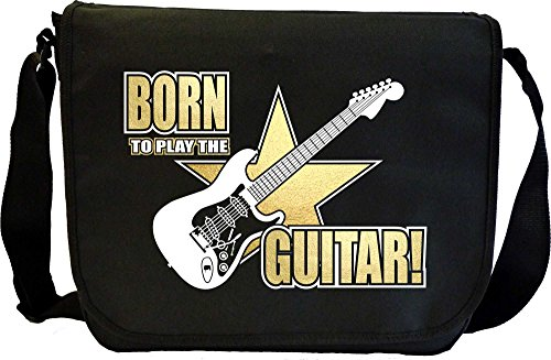 Electric Guitar Born To Play - Sheet Music Document Bag Musik Notentasche MusicaliTee (Prs Picks)