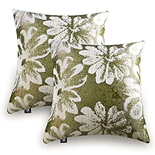 Artbisons Green Throw Pillow Cases Set of 2 Cushion Cases New Living Series Throw Pillow Covers Decorative Cushion Covers 18x18 Inches