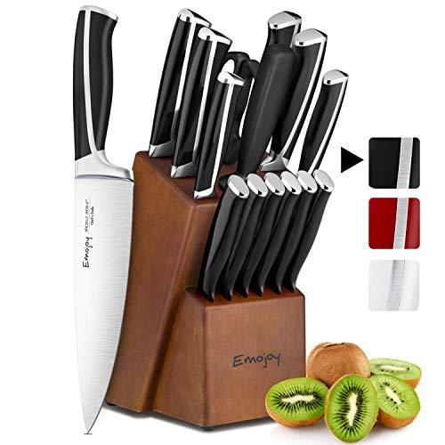 Emojoy Couteaux de Cuisine, Ensemble de Couteaux 15...
