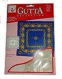 ARTY'S GUTTA COLLECTION - Motiv: Gerom I - Crepe de Chine 5, ca. 90x90cm, rollierte Ränder (Gutta gold)