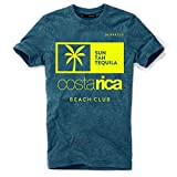 DEPARTED Herren T-Shirt mit Print/Motiv 4154-270 - New Fit Größe M, Pacific Breeze Teal Melange
