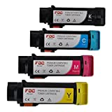 FDC Toner Ersatz Toner Patronen kompatibel mit Dell h625cdw, h825cdw, s2825cdn Drucker black/cyan/magenta/yellow