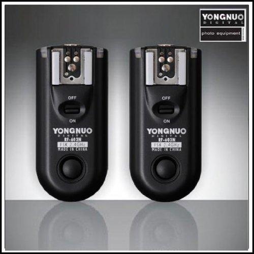 Yongnuo RF-603 C1 - Kit telecomando senza filo Flash Trigger per Canon C1 550D 600D 1000D 60D 500D 450D 400D 350D 300D