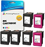 Printing Pleasure 6 XL Tintenpatronen kompatibel zu HP 300XL für Deskjet D1600 D1660 D1663 D2500 D2530 D2545 D2560 D2563 D2566 D2600 D2645 D2660 D2663 D2666 D2668 D2680 D5560 F2400 F2410 F2418 F2420 F2423 F2430 F2440 F2476 F2480 F2483 F2488 F2492 F2493 F4200 F4210 F4213 F4224 F4230 F4225 F4240 F4250 F4272 F4273 F4274 F4275 F4280 F4283 F4288 F4290 F4400 F4424 F4435 F4440 F4450 F4470 F4472 F4473 F4480 F4483 F4488 F4492 F4580 F4583 Photosmart C4780 C4680 - Schwarz/Color, hohe Kapazität