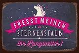 Grafik-Werkstatt 60684 Wand-Schild | Vintage-Art | Fresst Meinen Sternenstaub |...