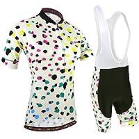 BXIO Las Mujeres Ropa de Ciclo Pro Camisetas del Equipo de la Bici Pequeño Amarillo