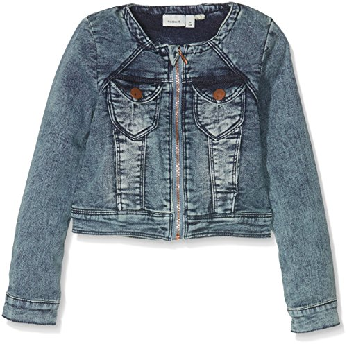 NAME IT Mädchen Jacke Nitstar Esa Dnm Jacket Nmt Noos, , Gr. 116, Blau (Medium Blue Denim Medium Blue Denim)