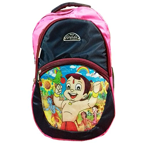 RoseBud Chota Bheem Cartoon Print Pink and Blue Color (10-15 Lt/16 Inch/2-5 years) 4 Compartments Back and Shoulder Strap padding Polyester Backpack Bag for Nursery and Junior School Girls, Boys, Kids, Children Students (Doraemon, Chota Bheem, Ben 10, Ben10, Barbie, Motu Patlu, Cinderella Princess, Sponge Bob, Honey Bunny, Subway Surfers, Micky Mouse, Bugs Bunny, Tweety, Goofy, Tom, Jerry, Donald duck, Snow White etc)  available at amazon for Rs.440