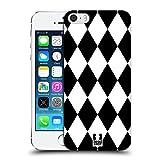 Head Case Designs Diamanten Schwarz-Weiss Muster Ruckseite Hülle für Apple iPhone 5 / 5s / SE