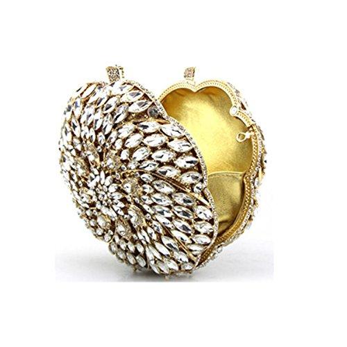 Signora Colore Diamante Borsa Da Sera Borsa Borsa Da Donna Banchetto Borsa A Catena Borsa Gold