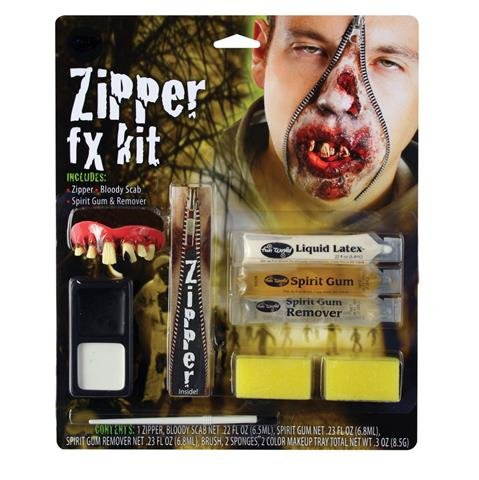 Deluxe Zipper Fx Kit - Zombie (Fx Kit Make Up)