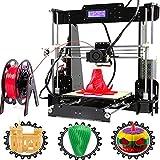 3D-Drucker, CTC aktualisierte A8-Y5 LCD-Anzeige Desktop 3D Drucker Kit Hohe Genauigkeit Selbstmontage Druckvorrichtung mit 1,75 mm ABS/PLA-Filament (Acrylic Y5 3D Printer)