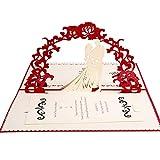JinSu 3D Pop-up Carte de Mariage...