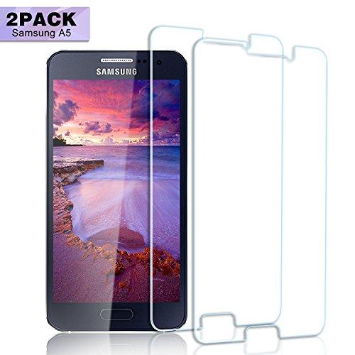 dabec13a1cef68 Nutmix Galaxy A5 2017 Panzerglas Schutzfolie, 2 Stück  9H  Hartglas,Anti-Kratzer,Öl,Anti-Fingerabdruck,Blasenfreie,HD  Displayschutzfolie,0.33mm HD Ultra-Klar ...
