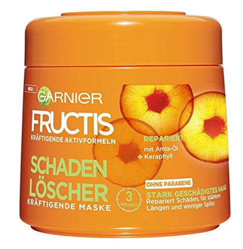 Garnier Fructis Schaden Löscher Kräftigende Maske, repariert Schäden, die durch Glätten, Föhnen oder Färben entstehen, für weniger Spliss, 6er-Pack (6 x 300 ml) (Garnier Fructis Maske)