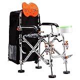 NBZH Angeln BedChairs Tackle Seat Box, Klappbarer, tragbarer Angelsitz, Mehrzweck-Ausrüstung für...