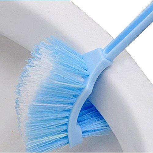 Lavabo portátil cepillo de plástico mango largo baño de inodoro de doble cara Scrub cepillo de limpieza