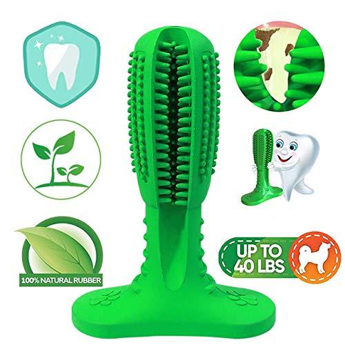 NUFOKG Hundezahnbürste Aggressive Kauspielzeug, langlebiger Gummi, Zahnbürste mit Zahnreinigungsborsten für kleine mittelgroße und große Hunde -