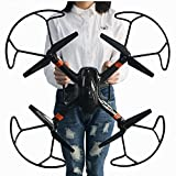 Esterno RC drone con batteria supplementare 2 MP HD camera One Key Return Home 3D Flips telecomando elicottero RC aereo giocattolo 2.4 G 6-axis Quadcopter kit grandi dimensioni 50*50*20 cm super-x Lamaston(bianca)