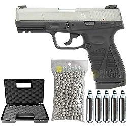 Pack Taurus PT24/7 G2 Two Tone/Semi-Automatique/Blowback/ABS-métal/Puissance 0.5 Joule/livré avec Accessoires