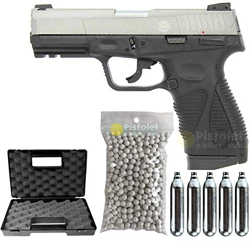 Taurus-Pack PT24/7 G2 Two Tone Co2 Full Metal-cybergun 210528- Semi Automatik (0,5 Joule) -blowback-mit Zubehör -