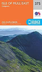 OS Explorer Map (375) Isle of Mull East (OS Explorer Paper Map) (OS Explorer Active Map)