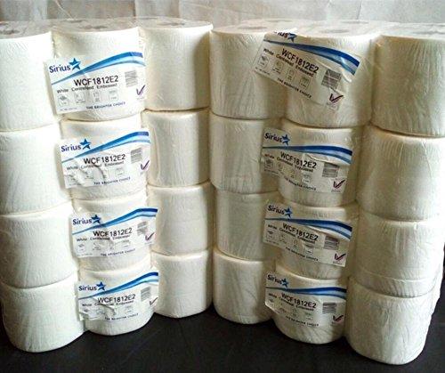 Weiß, mit Innenabwicklung geprägter zweilagiger Scheibenwischer Papier Handtuch (8Packungen von 6Rollen = 48Rollen)