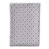 """URBANARA Tagesdecke """"Viana"""" - 100% Reine Baumwolle, Grau/Weiß mit geometrischem Diamantmuster - 180 x 230 cm, Bett-Überwurf, Plaid, Sofadecke, Wohndecke …"""