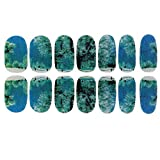 Oxforder Nailart Sticker - 6 Blatt 3D Nagelsticker Nageldesign Aufkleber Wassertransfer Nail Art Nail Tips Dekorationen (Landschaft Stil)