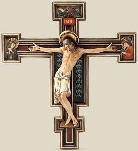 Roman ST Damian San Damiano Wand Kreuz Kruzifix Königskette
