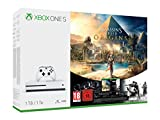 Xbox One S Assassin's Creed Origins Bonus Bundle (1TB), features a full-game downloads of Assassin's Creed Origins and Tom Clancy's Rainbow Six Siege, 4K Ultra HD Blu-ray, 4K video streaming, High Dynamic Range, premium audio, and an Xbox wireless co...